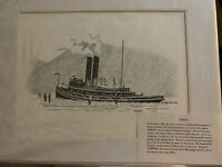Cornell Tugboat SteamBoat Company Art Print WM Ewen Jr Hudson River Istrouma
