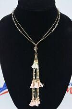 "I.n.c. Gold-Tone Bead & Tassel Pendant Necklace, 16"" + 3"" Extender"