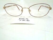 New CHARMANT Eyeglasses BR CH10846 Brown Gold Titanium Oval (DER-126)