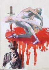 """DARREL GREENE  """" DANCER IN MOURNING""""  A KNIFE BLOOD & DETECTIVE ILLUSTRATION"""