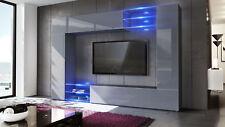 Wall Unit Living Room Furniture Set Mirage Black - High Gloss & Natural Tones