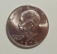1974D Ike Dollar Eisenhower uncirculated UNC in cointain capsule