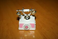Barbie Mattel Wind-Up Antique-Style Phone-Used-Shows some Wear