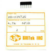 20x SMTEK 4.7K OHM 2% 6P3R SIP-6 RESISTOR Netw Array RB-03472G Isolated NEW NOS