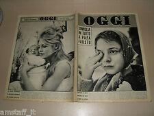 OGGI=1960/3=BRIGITTE BARDOT=SCHIO=CALUSCO D'ADDA=PIERO PICCIONI=JOE SENTIERI=