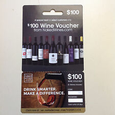 NAKED WINES $100 Gift Card Coupon Online Alcohol Wine Voucher nakedwines.com