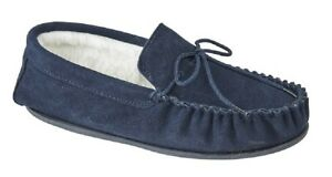 Mens Mokkers OLIVER Genuine Handcrafted Suede Moccasin Slippers