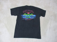 Harley Davidson Shirt Adult Medium Black Gainesville Florida Alligator Biker Men