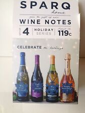 SPARQ WINE NOTES 4 Different Holiday Shapes Handmade NEW