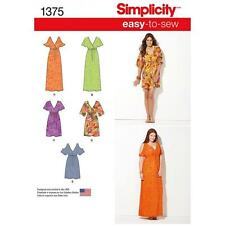 SIMPLICITY SEWING PATTERN MISSES' PULLOVER DRESS BODICE VARIATIONS XXS-XXL 1375