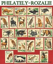Safety Matches Czechoslovakia set Matchbox labels Animals and Birds (N 24)