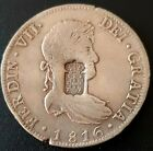 1816 8 reales Mexico Ferdin VII PORTUGAL COUNTERSTAMP 870 Reis VERY NICE!!
