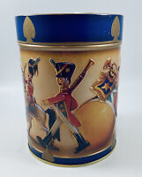 Lambert's Cookie Tin Music Box Empty Wooden Soldiers Holiday Marching Horses