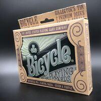 Bicycle Playing Cards Collectors Tin 2 Premium Decks Green Purple