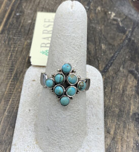 Barse Tesserae Turquoise Ring-Sterling Silver-9-NWT