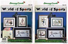 Cross Stitch Pattern Book World of Sports Stoney Creek Football Baseball Golf