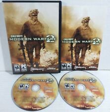 Call of Duty: Modern Warfare 2 (PC, 2009) COMPLETE Disks Case & Manual FREE SHIP