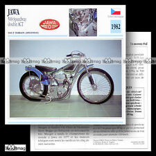 #062.03 JAWA 500 SPEEDWAY Double ACT 1982 Fiche Moto Motorcycle Card