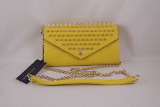 Rebecca Minkoff Wallet on a Chain with Studs Marigold with Gold Hardware NEW