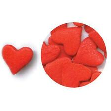 JUMBO RED HEARTS Edible Confetti Sprinkles by CK Products - cake/cupcake/pops