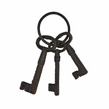 Cast Iron Antique Reproduction Key Set / Key Ring - #12