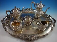 Francis I by Reed & Barton Old Sterling Silver Tea Set 5pc wTray Chased (#1628)