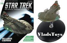 Eaglemoss Diecast Star Trek Warship Tellarite Cruiser Starship issue #115 w/Mag