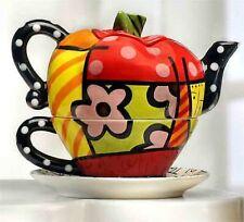 Romero Britto Full Size Ceramic Apple Tea For One Teapot  Retired