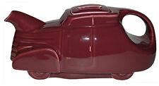 Hall China Automobile Maroon Vintage Teapot - Super Glaze - GUARANTEED OLD