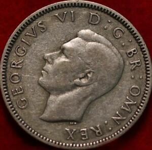 1939 Great Britain Shilling Silver Foreign Coin