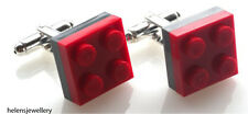 NEW LEGO DOUBLE PLATE Cufflinks SILVER PLATED - FREE POSTAGE + FREE GIFT BAG