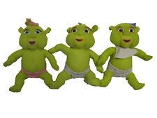 "Nanco Shrek The Third ( 3 Ogre Babies 10"" Plush Sets ) Felicia - Farkle - Fergus"