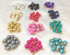 15 buttons Beads Stunning stylish ivory pearl gold diamante for crafting 1.5cm