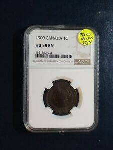 1900 Canada LARGE Cent NGC AU58 BN ABOUT UNCIRCULATED 1C Coin BUY IT NOW!