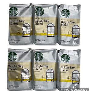 Starbucks Blonde BRIGHT SKY BLEND Ground Coffee x6 12 oz BB: 1/2021