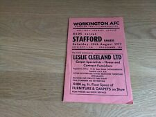 More details for 1977-78 workington v stafford rangers - first match in non-league