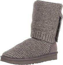 Ugg Knit W Purl Cardy 1094949 [talla 36 (5)] señora botas de punto gris NUEVO