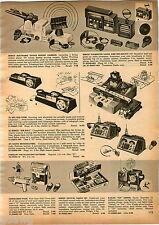 1958 ADVERTISEMENT Remco Radar Rocket Cannon Transistor Radio Big Max Crystal