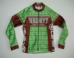 CANARI Green/Brown HERSHEY'S MILK CHOCOLATE JERSEY Cycling Bike Jacket Sz SMALL