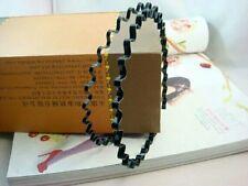 2x Unisex para hombres mujeres deportivo Wave Hair Band Hairband venda de metal negro