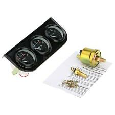 """2"""" 52mm LED Car Motorcycle Oil Pressure/Water Temp Gauge Sensor Voltmeter Y6E6"""