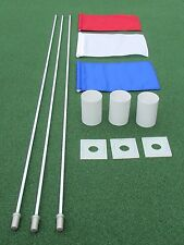 3 HOLE GOLF PKG - 3 FLAGS - 3 FLAGSTICK - 3 PLASTIC CUPS - 3 STABILIZER PLATES