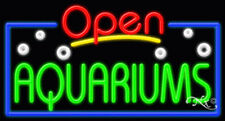 "New ""Open Aquariums"" 37x20x3 Border Real Neon Sign W/Custom Options 15448"