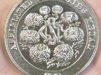 NCS Chrysanthemum Affiliated Societies White Metal Medal 44mm NO WINNER #T2488