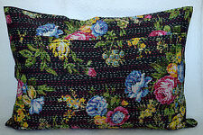 """28"""" KANTHA STITCHED VINTAGE PILLOW CUSHION COVER THROW Ethnic Indian Textile"""