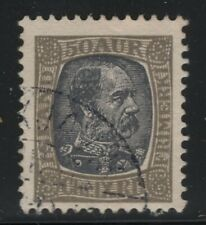 Iceland 1902 50a Gray & Black King Christian Sc# 43 used