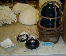 Very Rare Antique Nautical Lamp - Us Made (Paulhun)
