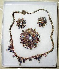 Sherman Jewels of Elegance - Signed AB Sherman Necklace & Matching Earrings