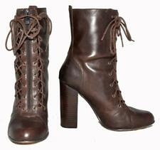 """RMK """"Vella"""" Dark Brown Genuine Leather Lace-Up Long Ankle Women's Boots Size 10"""