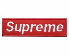 Red supreme embroidered Iron on Patch sew On Badge  Uk Seller A505